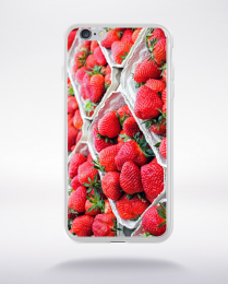 Coque barquettes de fraises  compatible iphone 6 transparent