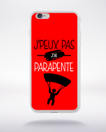 Coque j'peux pas j'ai parapente 9 compatible iphone 6 transparent