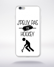 Coque j'peux pas j'ai hockey 1 compatible iphone 6 transparent
