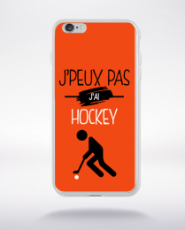 Coque j'peux pas j'ai hockey 5 compatible iphone 6 transparent