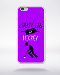 Coque j'peux pas j'ai hockey 8 compatible iphone 6 transparent
