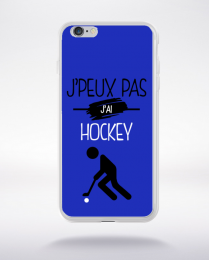 Coque j'peux pas j'ai hockey 12 compatible iphone 6 transparent