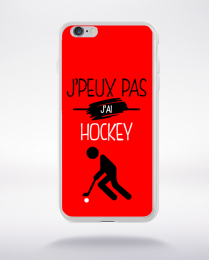 Coque j'peux pas j'ai hockey 9 compatible iphone 6 transparent
