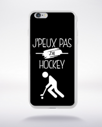 Coque j'peux pas j'ai hockey 2 compatible iphone 6 transparent
