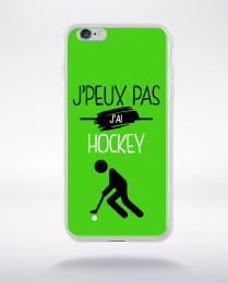 Coque j'peux pas j'ai hockey 4 compatible iphone 6 transparent