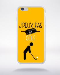 Coque j'peux pas j'ai golf 10 compatible iphone 6 transparent