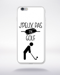 Coque j'peux pas j'ai golf 1 compatible iphone 6 transparent