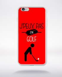 Coque j'peux pas j'ai golf 9 compatible iphone 6 transparent