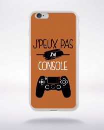 Coque j'peux pas j'ai console 7 compatible iphone 6 transparent