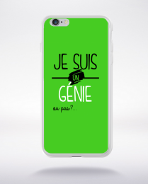 Coque je suis un genie ou pas 5 compatible iphone 6 transparent