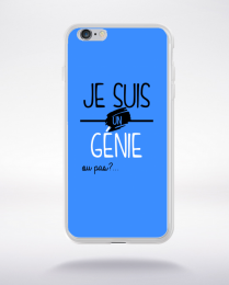 Coque je suis un genie ou pas 3 compatible iphone 6 transparent
