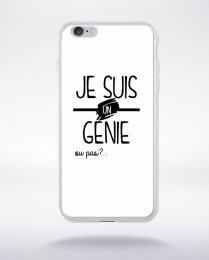 Coque je suis un genie ou pas 2 compatible iphone 6 transparent