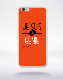 Coque je suis un genie ou pas 1 compatible iphone 6 transparent