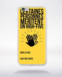 Coque coque high five compatible iphone 6 transparent