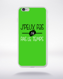 Coque j'peux pas j'ai pas le temps 7 compatible iphone 6 transparent