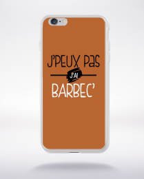 Coque j'peux pas j'ai barbec fond marron compatible iphone 6 transparent