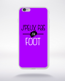 Coque j'peux pas j'ai foot fond violet compatible iphone 6 transparent