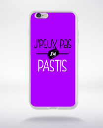 Coque j'peux pas j'ai pastis fond violet compatible iphone 6 transparent