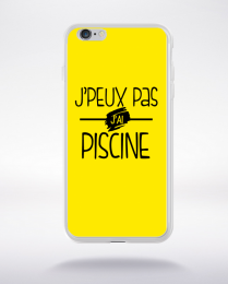Coque j'peux pas j'ai piscine fond jaune compatible iphone 6 transparent