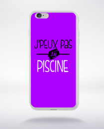 Coque j'peux pas j'ai piscine fond violet compatible iphone 6 transparent