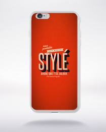 Coque mon portable est hyper stylé. fond orange compatible iphone 6 transparent