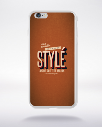 Coque mon portable est hyper stylé. fond marron compatible iphone 6 transparent