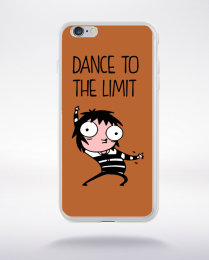 Coque dance to the limit. fond marron compatible iphone 6 transparent