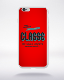 Coque mon portable est hyper classe. fond rouge compatible iphone 6 transparent