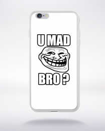 Coque u mad bro. fond blanc compatible iphone 6 transparent