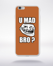 Coque u mad bro. fond marron compatible iphone 6 transparent