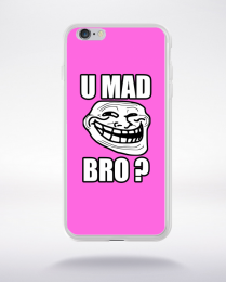 Coque u mad bro. fond rose compatible iphone 6 transparent