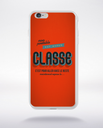 Coque mon portable est hyper classe. fond orange compatible iphone 6 transparent