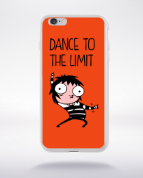 Coque dance to the limit. fond orange compatible iphone 6 transparent