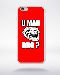 Coque u mad bro. fond rouge compatible iphone 6 transparent