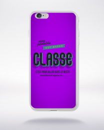 Coque mon portable est hyper classe. fond violet compatible iphone 6 transparent