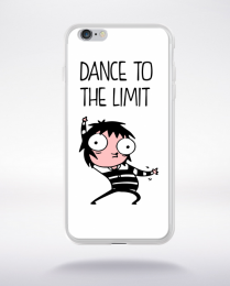 Coque dance to the limit. fond blanc compatible iphone 6 transparent