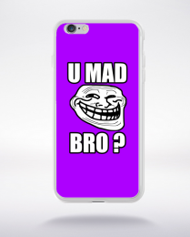 Coque u mad bro. fond violet compatible iphone 6 transparent