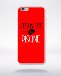 Coque j'peux pas j'ai piscine fond rouge compatible iphone 6 transparent