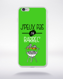 Coque j'peux pas j'ai barbec 9 compatible iphone 6 transparent