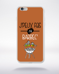 Coque j'peux pas j'ai barbec 6 compatible iphone 6 transparent