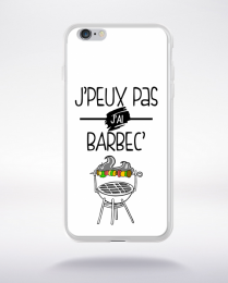 Coque j'peux pas j'ai barbec 2 compatible iphone 6 transparent