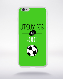 Coque j'peux pas j'ai foot  9 compatible iphone 6 transparent