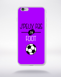 Coque j'peux pas j'ai foot  5 compatible iphone 6 transparent
