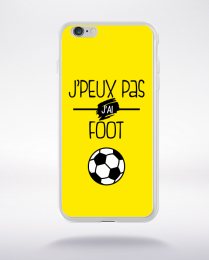 Coque j'peux pas j'ai foot  3 compatible iphone 6 transparent