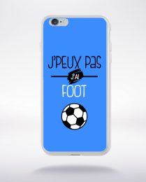Coque j'peux pas j'ai foot  10 compatible iphone 6 transparent