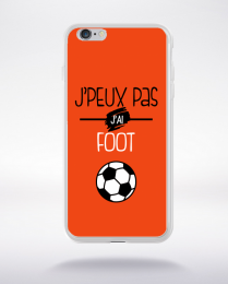 Coque j'peux pas j'ai foot  8 compatible iphone 6 transparent