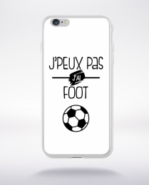 Coque j'peux pas j'ai foot  2 compatible iphone 6 transparent