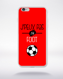 Coque j'peux pas j'ai foot  4 compatible iphone 6 transparent