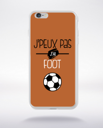 Coque j'peux pas j'ai foot  6 compatible iphone 6 transparent