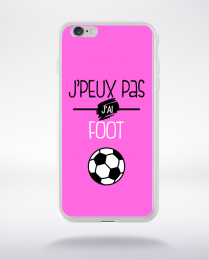Coque j'peux pas j'ai foot  7 compatible iphone 6 transparent